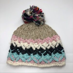 NWT Multiple Color Beanie Hat with Pom Pom